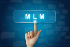 Remettez la presse sur MLM ou bouton de niveau multi de vente Photo libre de droits