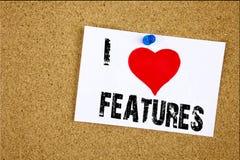 Remettez la publicité de signification de concept de caractéristiques d'amour de l'apparence I d'inspiration de légende des texte Image stock
