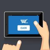 Remettez la tablette de fixation Images libres de droits
