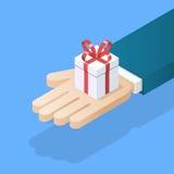 Remettez le cadre de cadeau de fixation Image stock