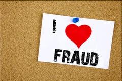 Remettez le concept de fraude d'amour de l'apparence I d'inspiration de légende des textes d'écriture signifiant aimer criminel d Photographie stock