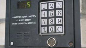 Remettez le nombre de cadrans d'appartement sur l'interphone clips vidéos