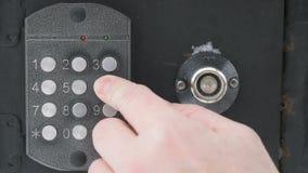 Remettez le nombre de cadrans d'appartement sur l'interphone banque de vidéos