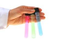 Remettez les tubes de chimie de fixation Photo libre de droits