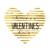 Remettez marquer avec des lettres l'affiche calligraphique de typographie de partie jour de valentines heureux sur le fond de coe Images stock