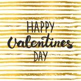 Remettez marquer avec des lettres l'affiche calligraphique de typographie de partie jour de valentines heureux sur le fond de ray Image libre de droits