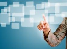 Remettez pousser un bouton sur un écran tactile Images libres de droits