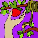 Remettez qui recueille le fruit illustration libre de droits