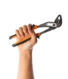 Remettez tenir des paires de poignées en acier de taupe avec les mâchoires réglables Image stock