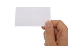 Remettez un businesscard Photo stock