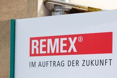 Remex sign in witten germany. Witten, North Rhine-Westphalia/germany - 09 11 18: remex sign in witten germany stock image