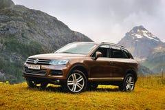 Remi Notre Dame, dAosta di Valle, Italia - 25 luglio 2016: Volkswagen Touareg fotografia stock