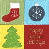 Remiendo con adornos de la Navidad ilustración del vector