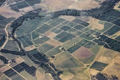 Remiendo de la pista de granja fotografía de archivo