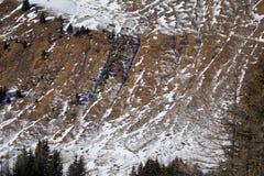 Remiendos de la nieve Foto de archivo libre de regalías