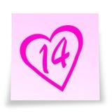 Reminde del día de tarjeta del día de San Valentín Foto de archivo