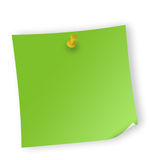 Reminder. Close up of reminder on white background with clipping path Stock Photos