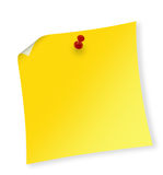 Reminder. Close up of reminder on white background with clipping path Royalty Free Stock Photography