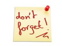 Reminder Stock Image