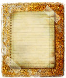 Reminder. Vintage background with blank page over cork Royalty Free Stock Photo