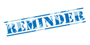 Reminder blue stamp Stock Images