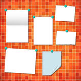 Reminder cards on a kitchen wall Royalty Free Stock Photo