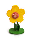 Reminder clip in the flower shape. Isolated reminder clip in the flower shape Royalty Free Stock Images