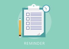 Reminder concept flat icon Royalty Free Stock Photo