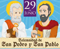 Reminder Date for the Solemnity of Saints Peter and Paul, Vector Illustration Royalty Free Stock Image