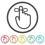 Reminder icon - Vector Illustration, 6 Colors Included. Simple vector icons set Stock Photography