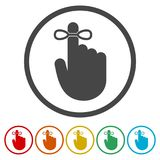 Reminder icon - Vector Illustration, 6 Colors Included. Simple vector icons set Stock Photos