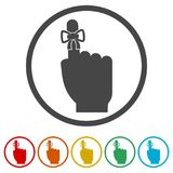Reminder icon - Vector Illustration, 6 Colors Included. Simple vector icons set Stock Image