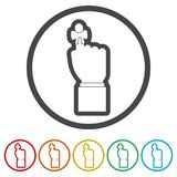 Reminder icon - Vector Illustration, 6 Colors Included. Simple vector icons set Royalty Free Stock Photo