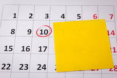 Reminder for important date Stock Image