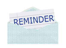 Reminder Letter Stock Photo