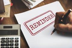 Reminder Memo Agenda Schedule Arrangement Concept Royalty Free Stock Image