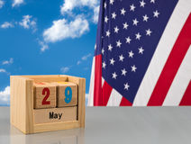 Reminder for Memorial day on 29 May 2017 Royalty Free Stock Photo