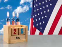 Reminder for Memorial day on 29 May 2017 Stock Photography