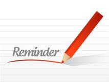 Reminder message illustration design Royalty Free Stock Photo