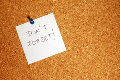 Reminder message on paper Royalty Free Stock Photos