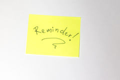 Reminder Motivational post-it Stock Photography