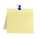 Reminder note. With pin isolated on the white background royalty free stock image