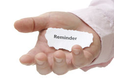 Reminder - Note Series Stock Photography