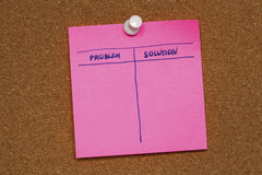 Reminder note solution,problem Royalty Free Stock Photos
