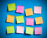 Reminder notes. On the bright colorful paper Stock Photos