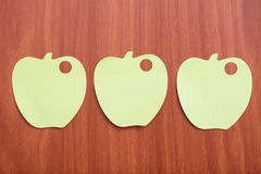 Reminder notes in apple shape Stock Photo