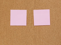 Reminder notes on cork board Royalty Free Stock Photo