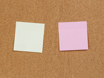 Reminder notes on cork board Royalty Free Stock Photos