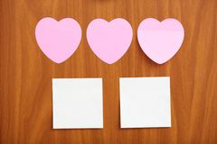 Reminder notes in different shapes Royalty Free Stock Photo