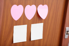 Reminder notes in different shapes Royalty Free Stock Photography
